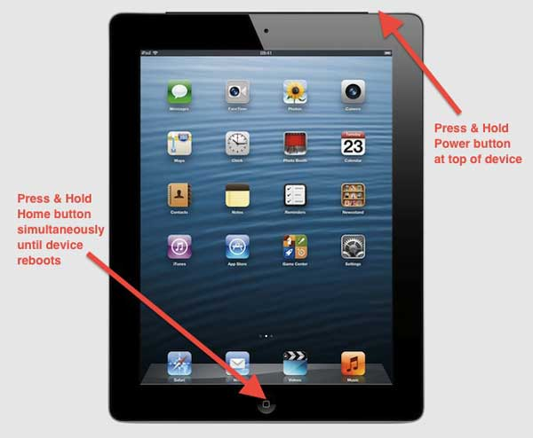 force restart ipad to fix ipad will not unlock