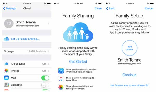 share music on iphone via family sharing