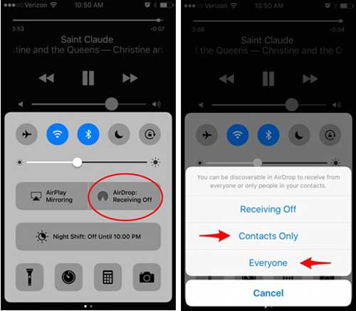 airdrop music from iphone to iphone turn on airdrop feature on iphone 9585