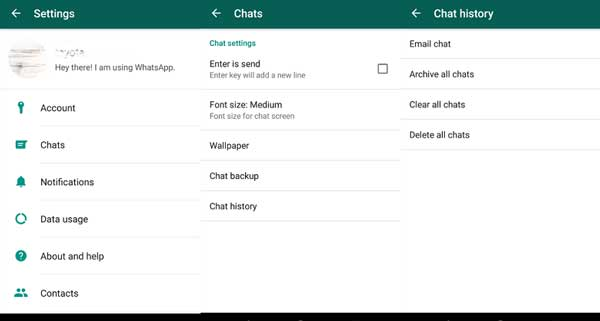 how to transfer whatsapp chats from android device to email