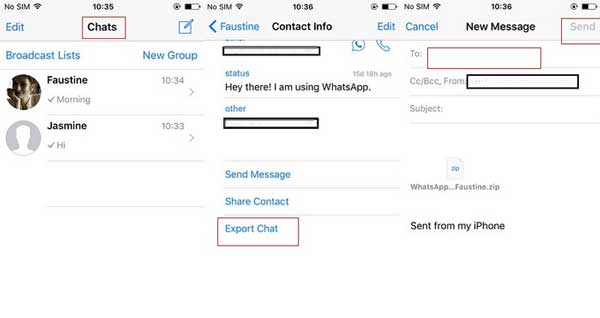 how to transfer whatsapp from iphone to android via email chat