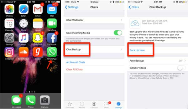 how to transfer whatsapp messages from iphone to iphone via icloud