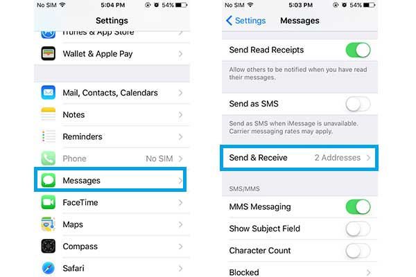 reset imessage settings on iphone