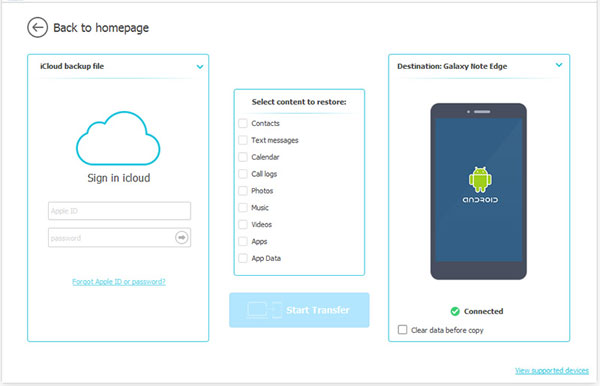 restore windows phone from icloud
