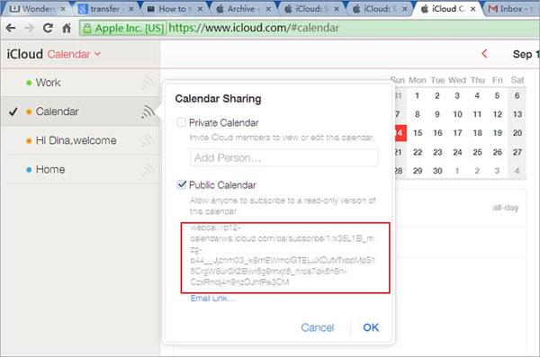 share icloud calendar