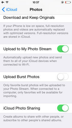how to share iphone photos