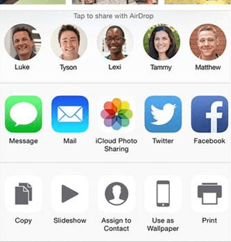 share iphone photos