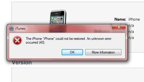 how to fix iphone or tunes errors