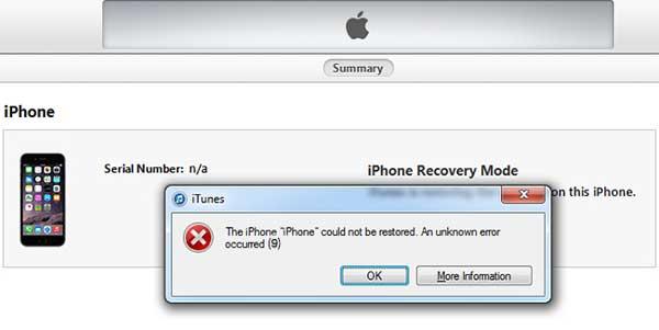 how to fix itunes error 9 or iphone error 9