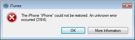 how to fix itunes error 3194