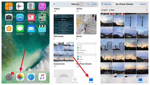 how to access photo stream on ios device