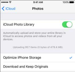 how to enable icloud photo library