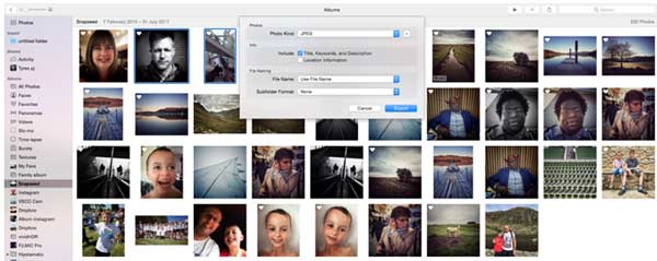 how to export pictures from icloud photo library