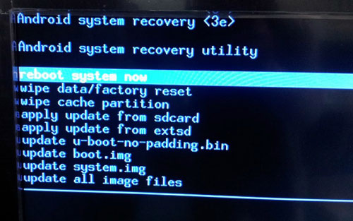 reboot system to get into locked android phone