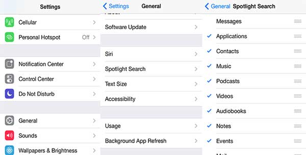how to delete spotlight search history on iphone