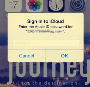 how to fix sign in to icloud popup loop
