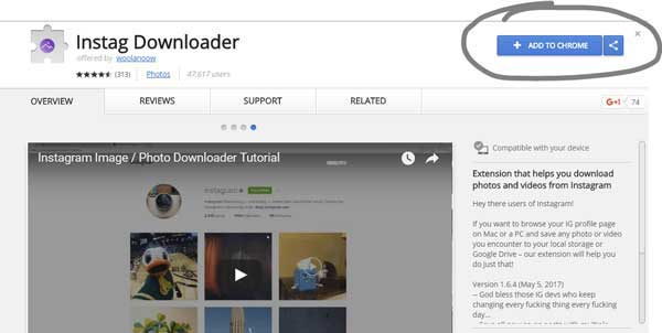 download instag downloader to download instagram videos