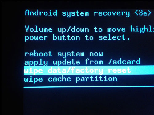 factory reset android if you locked out of android phone