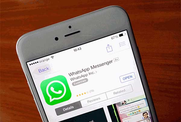 reinstall whatsapp on iphone to clear whatsapp caches