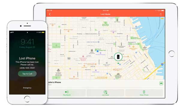 enable lost mode with find my iphone to get back lost iphone