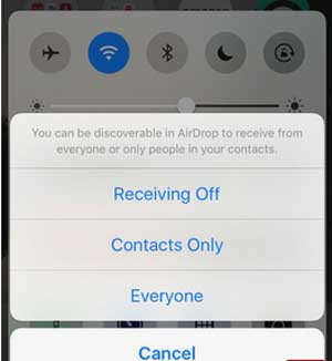 transfer contacts from ipad to iphone with airdrop