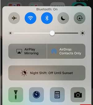 turn on bluetooth and wifi when use airdrop
