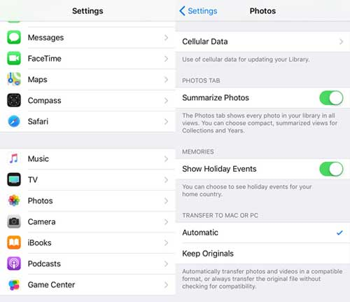 automatically transfer heic photos format from iphone to computer