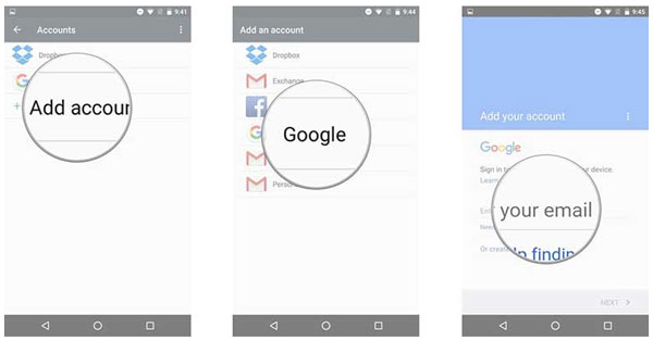 sync in gmail on android