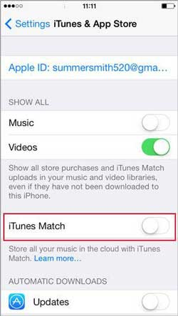 how to prevent songs automatically downloading to your iPhone
