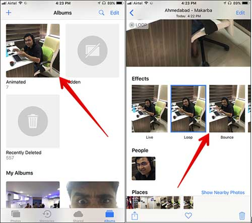 save live photos as gifs on iphone