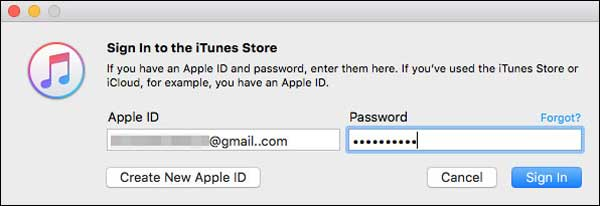 sign into itunes store to publish a podcast