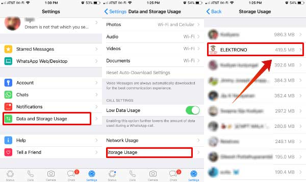 how to free up whatsapp storage on iphone