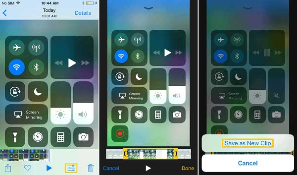 edit screen recording video on ios 11