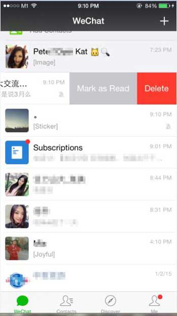 how to clear wechat chat on iphone