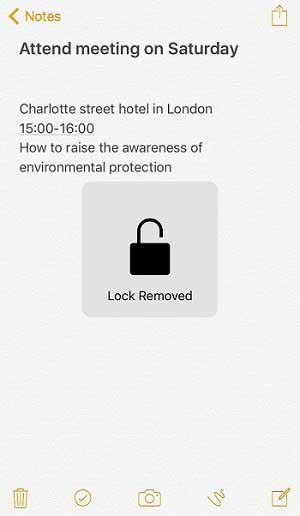 remove notes lock