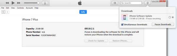 download iphone software update in itunes