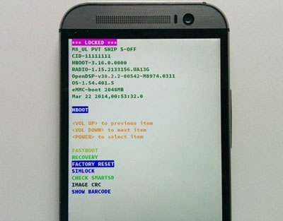factory reset htc one