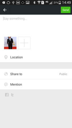 share location on wechat moments