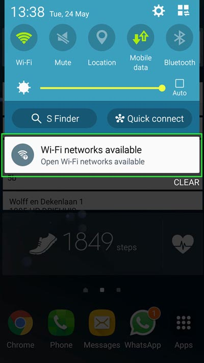 wifi on android