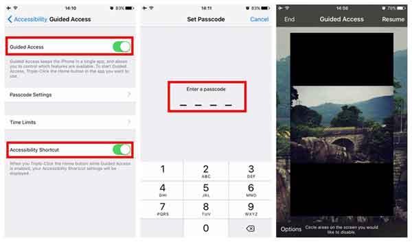 set up password to freeze screen