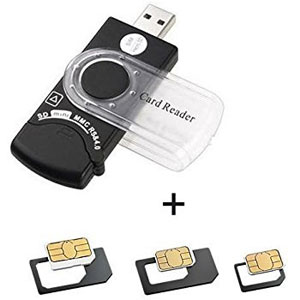 insert to sim card reader