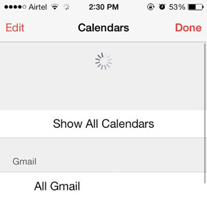 refresh calendar app to fix iphone calendar not syncing issue
