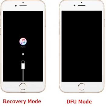 iphone stuck in dfu mode