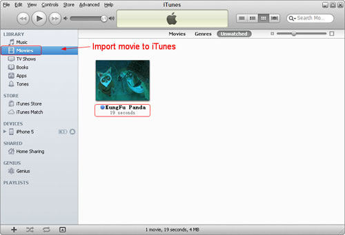 transfer videos to itunes