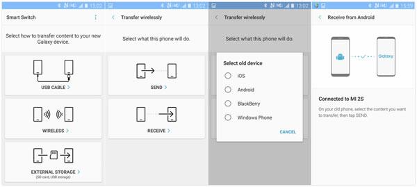 copy data to s9 via smart switch
