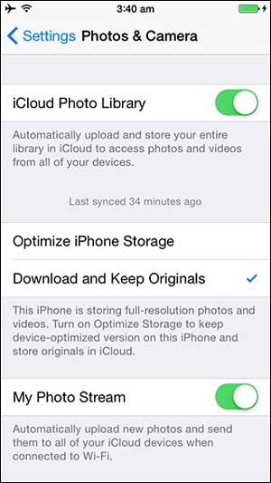 reduce photo size on iphone