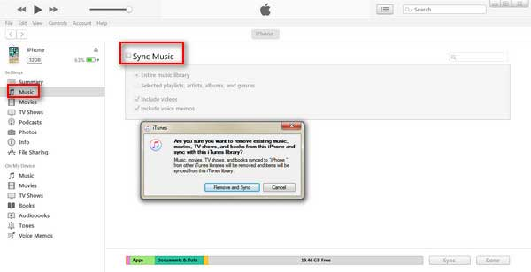 restore music to iphone via itunes