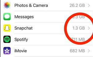 check snapchat data on iphone