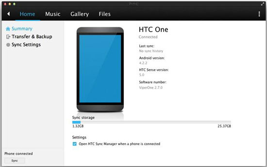how to transfer photos from htc phone to laptop via htc sync manager