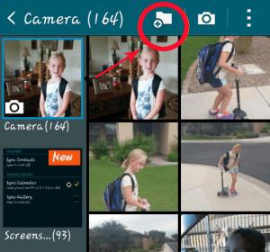 move s9 photos to folder